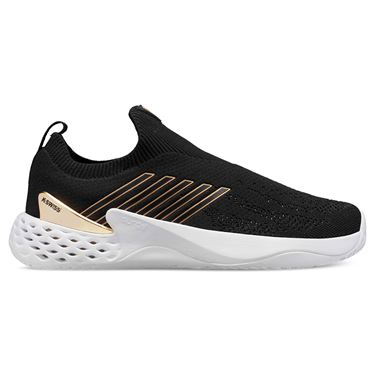 K Swiss Aero Knit Mens Tennis Shoe Black/Gold/White 06137 093