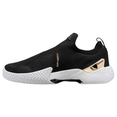 K Swiss Aero Knit Mens Tennis Shoe Black/Gold/White 06137 093
