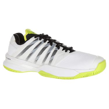 K Swiss Ultrashot 2 Mens Tennis Shoe - White/Black/Neon Yellow