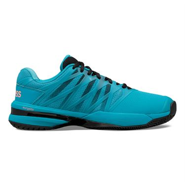 K Swiss Ultrashot 2 Mens Tennis Shoe Algiers Blue/Black/Soft Neon Orange 06168 476