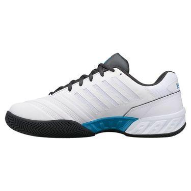 K Swiss Bigshot Light 4 Mens Tennis Shoe White/Dark Shadow/Swedish Blue 06989 130