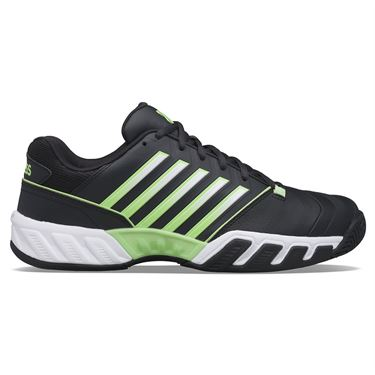 K Swiss Bigshot Light 4 Mens Tennis Shoe Blue Graphite/Soft Neon Green/White 06989 406