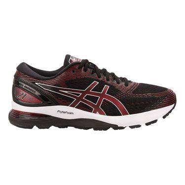Asics Gel Nimbus 21 Mens Running Shoe Black/Red 1011A169 002