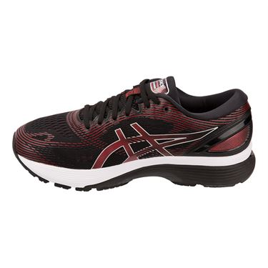 Asics Gel Nimbus 21 Mens Running Shoe Black/Red 1011A169 002
