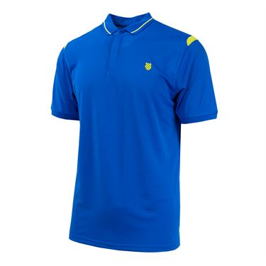 K Swiss Backcourt Polo - Blue/Citron