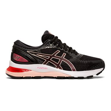 Asics Gel Nimbus 21 Womens Running Shoe Black/Laser Pink 1012A156 002