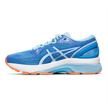 Asics Gel Nimbus 21 Womens Running Shoe Blue Coast/White 1012A156 400