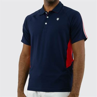 K Swiss Heritage Polo Shirt - Navy