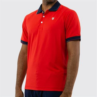 K Swiss Heritage Classic Polo Shirt - Red