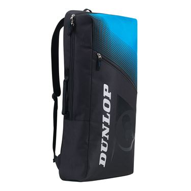 Dunlop FX Club 2 Pack Long Tennis Backpack - Black/Blue