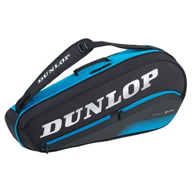 Dunlop FX Performance 3 Pack Tennis Bag - Black/Blue