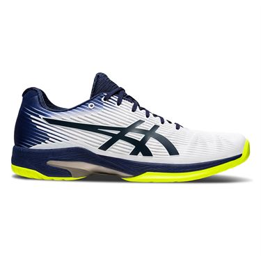 Asics Solution Speed FF Mens Tennis Shoe White/Peacoat 1041A003 104