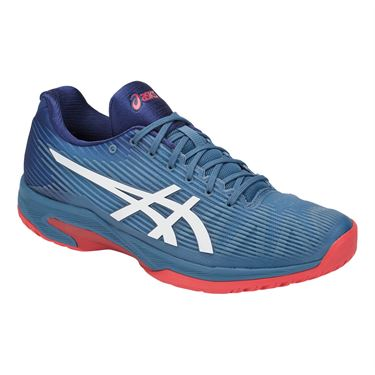 Asics Solution Speed FF Mens Tennis Shoe - Azure Blue/White