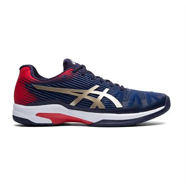 Asics Solution Speed FF Mens Tennis Shoe Peacoat/Champagne 1041A003 403