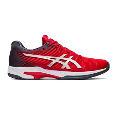 Asics Solution Speed FF Mens Tennis Shoe Red/Silver 1041A003 603
