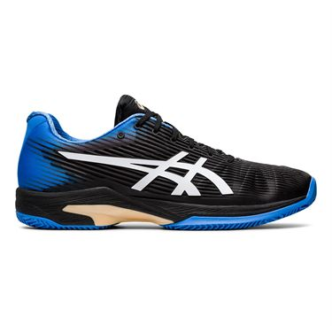 Asics Solution Speed FF Clay Mens Tennis Shoe Black/Blue Coast 1041A004 012