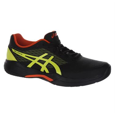 Asics Gel Game 7 Mens Tennis Shoe - Black/Sour Yuzu