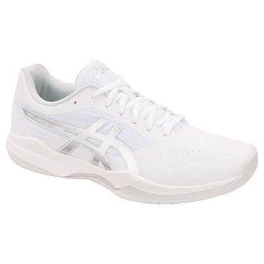 Asics Gel Game 7 Mens Tennis Shoe - White/Silver