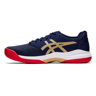 Asics Gel Game 7 Mens Tennis Shoe Navy/Gold 1041A042 400