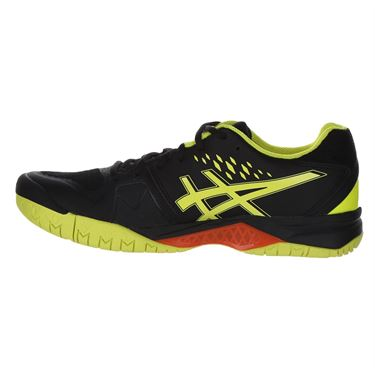 Asics Gel Challenger 12 Mens Tennis Shoe - Black/Sour Yuzu