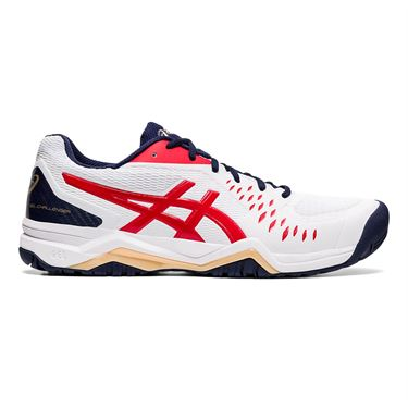 Asics Gel Challenger 12 Mens Tennis Shoe White/Classic Red 1041A045 115