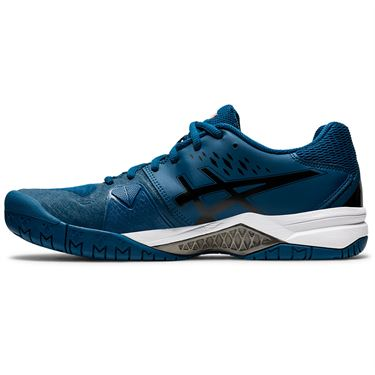Asics Gel Challenger 12 Mens Tennis Shoe Mako Blue/Gunmetal 1041A045 402