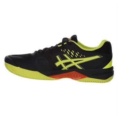 Asics Gel Challenger 12 Clay Mens Tennis Shoe - Black/Sour Yuzu