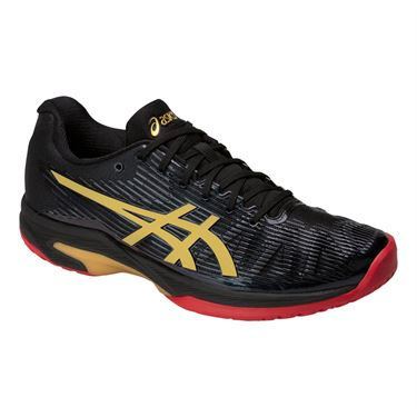 Asics Solution Speed FF LE Mens Tennis Shoe - Black/Gold