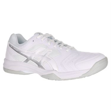 Asics Gel Dedicate 6 Mens Tennis Shoe - White/Silver