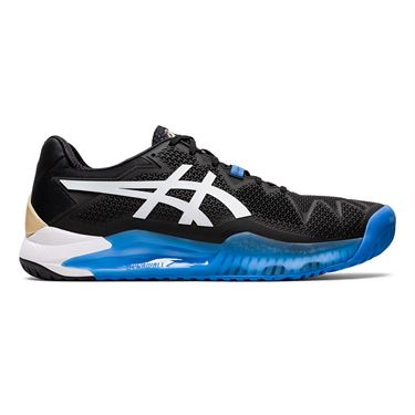 Asics Gel Resolution 8 Mens Tennis Shoe Black/White 1041A079 001