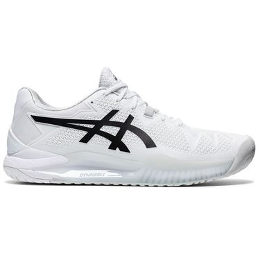 Asics Gel Resolution 8 Mens Tennis Shoe White/Black 1041A079 101