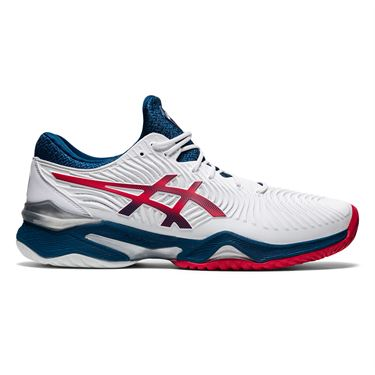 Asics Court FF 2 Mens Tennis Shoe White/Mako Blue 1041A083 102