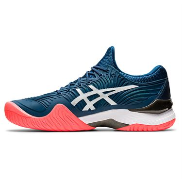 Asics Court FF 2 Mens Tennis Shoe Mako Blue/White 1041A083 400