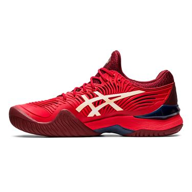 Asics Court FF 2 Mens Tennis Shoe Red/White 1041A083 600