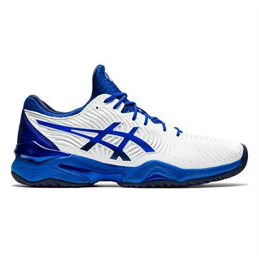 Asics Court FF Novak Mens Tennis Shoe White/Blue 1041A089 101