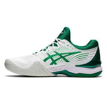 Asics Court FF Novak Mens Tennis Shoe White/Kale 1041A089 104