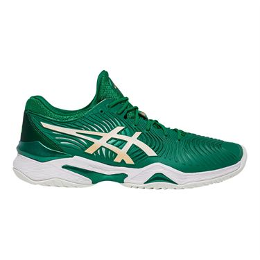 Asics Court FF Novak Mens Tennis Shoe Green/White 1041A089 301