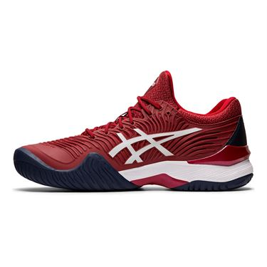 Asics Court FF Novak Mens Tennis Shoe Burgundy/White 1041A089 600