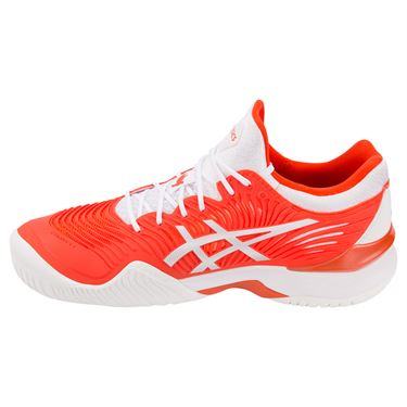 Asics Court FF 2 Novak Mens Tennis Shoe - Cherry Tomato/White
