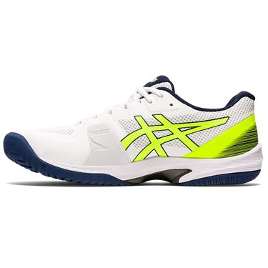 Asics Court Speed FF Mens Tennis Shoe White/Safety Yellow 1041A092 104