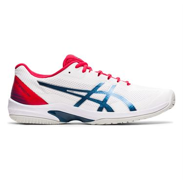 Asics Court Speed FF Mens Tennis Shoe White/Mako Blue 1041A092 105