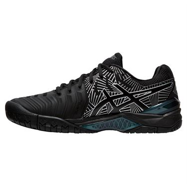 Asics Gel Resolution 7 Mens Tennis Shoe - Black/Silver