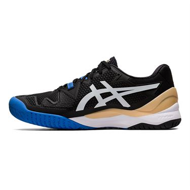 Asics Gel Resolution 8 Wide Mens Tennis Shoe Black/White 1041A113 001