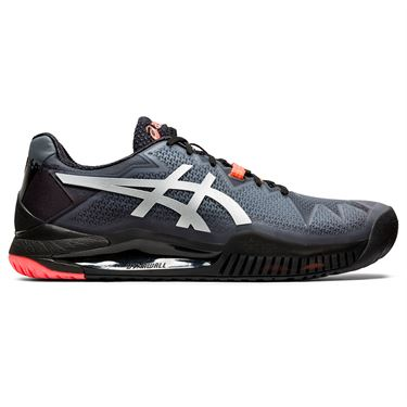 Asics Gel Resolution 8 LE Mens Tennis Shoe Black/Sunrise Red 1041A146 010