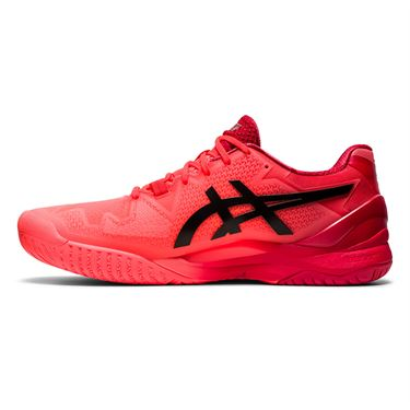 Asics Gel Resolution 8 Mens Tennis Shoe Tokyo Sunrise Red/Eclipse Black 1041A185 701