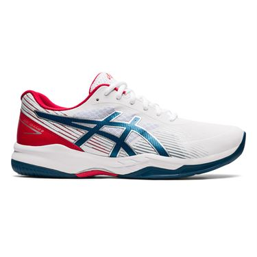 Asics Gel Game 8 Mens Tennis Shoe White/Mako Blue 1041A192 102