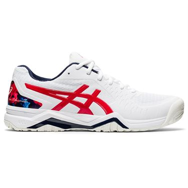 Asics Gel Challenger 12 LE Mens Tennis Shoe White/Classic Red 1041A216 110