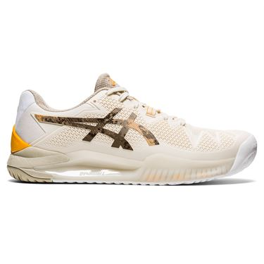 Asics Gel Resolution 8 LE Earth Day Mens Tennis Shoe White/Sunflower Orange 1041A220 101
