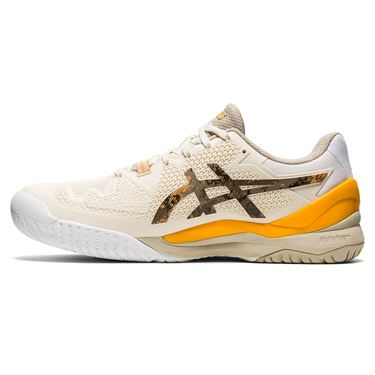 Asics Gel Resolution 8 LE Earth Day Mens Tennis Shoe White/Sunflower Orange 1041A220 101