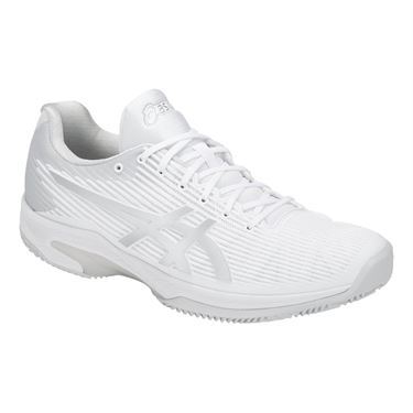 Asics Solution Speed FF Clay Mens Tennis Shoe - White/Silver